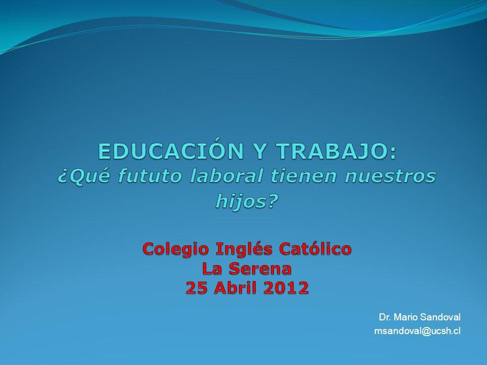 Dr. Mario Sandoval msandoval@ucsh.cl