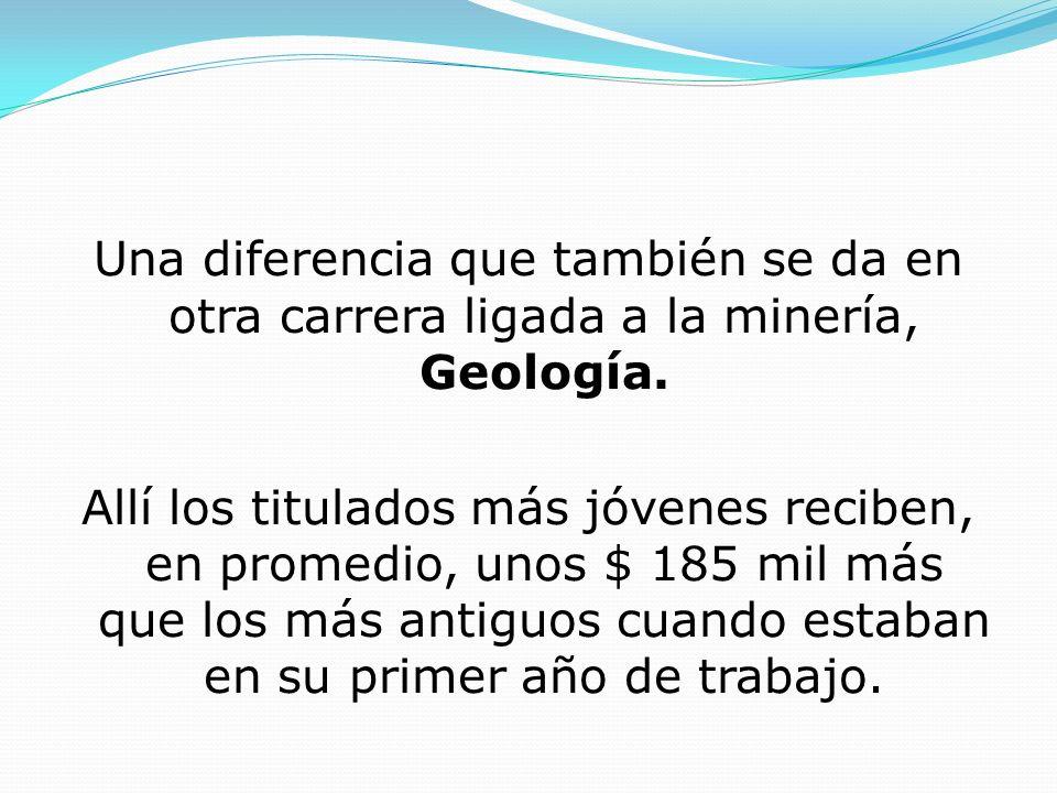 Una diferencia que también se da en otra carrera ligada a la minería, Geología.