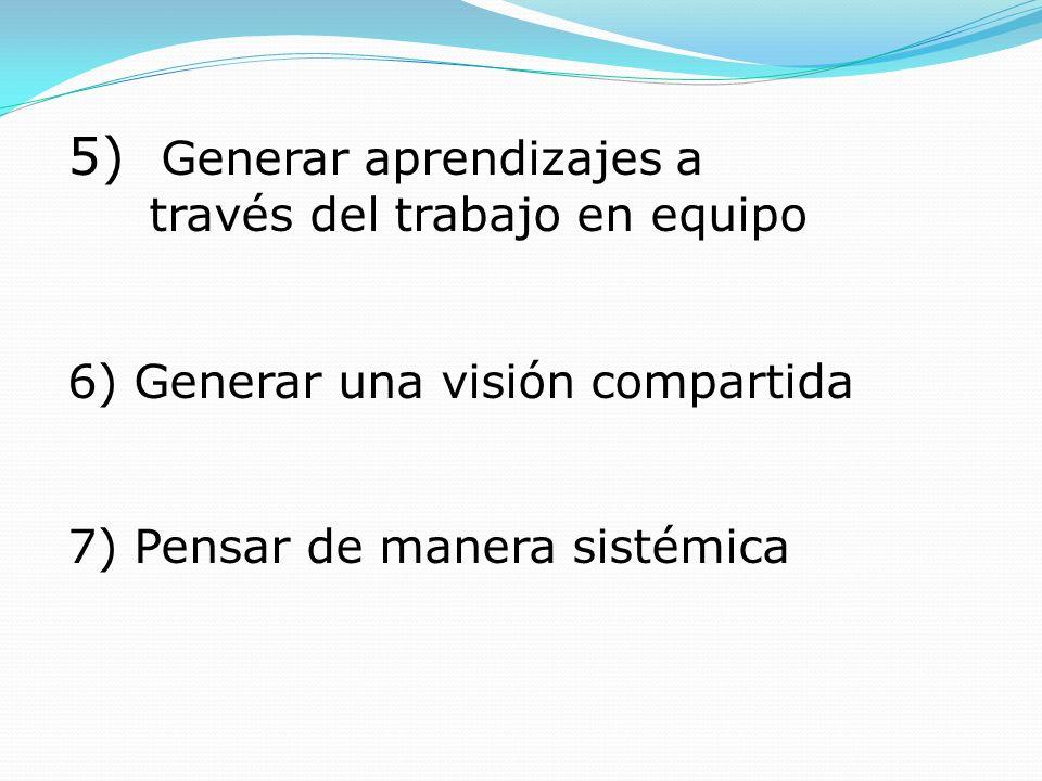 5) Generar aprendizajes a