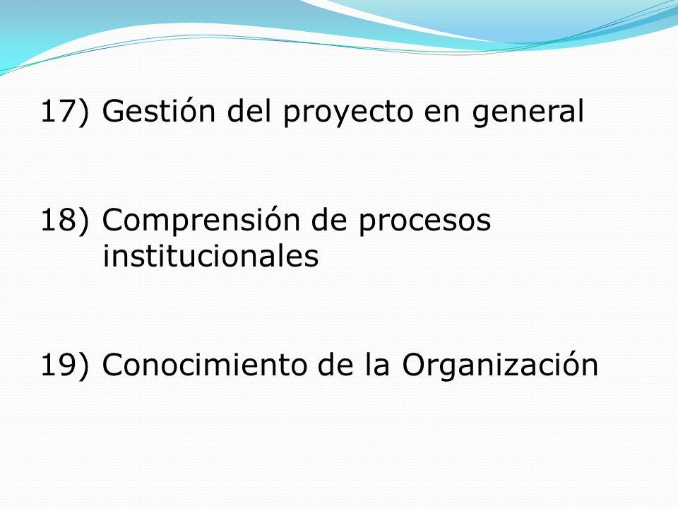 17) Gestión del proyecto en general