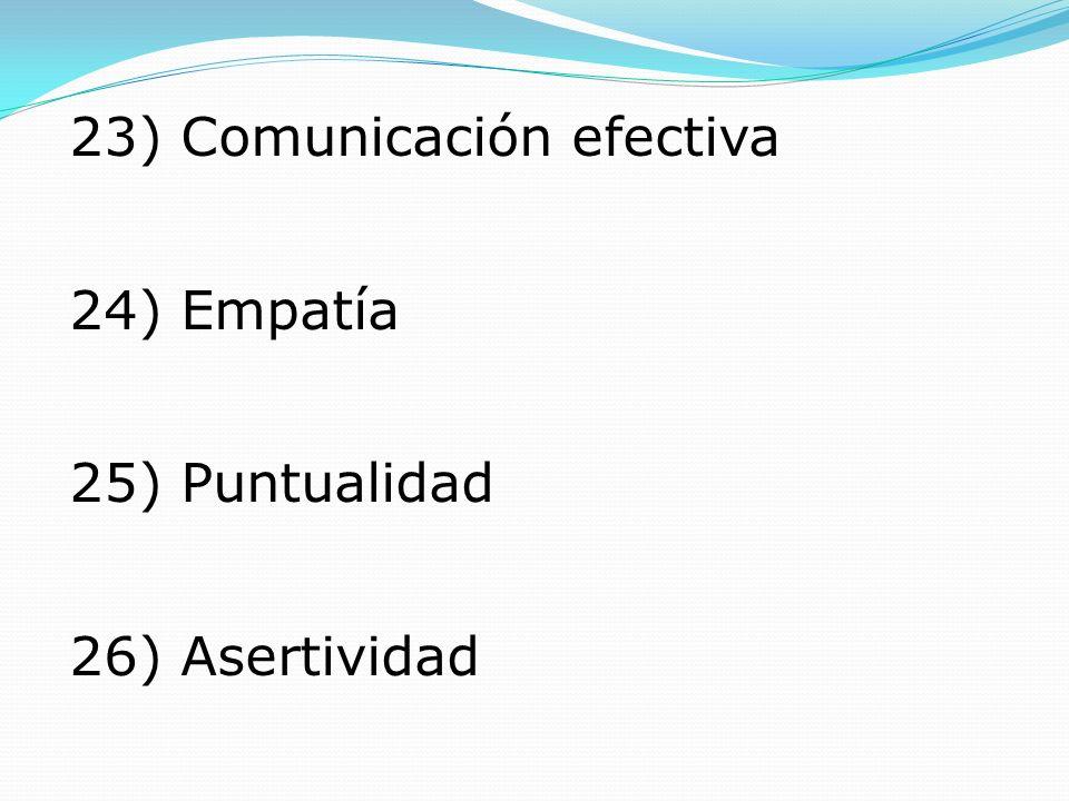 23) Comunicación efectiva