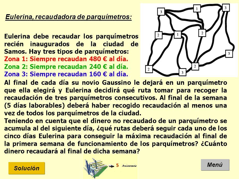 Eulerina, recaudadora de parquímetros: