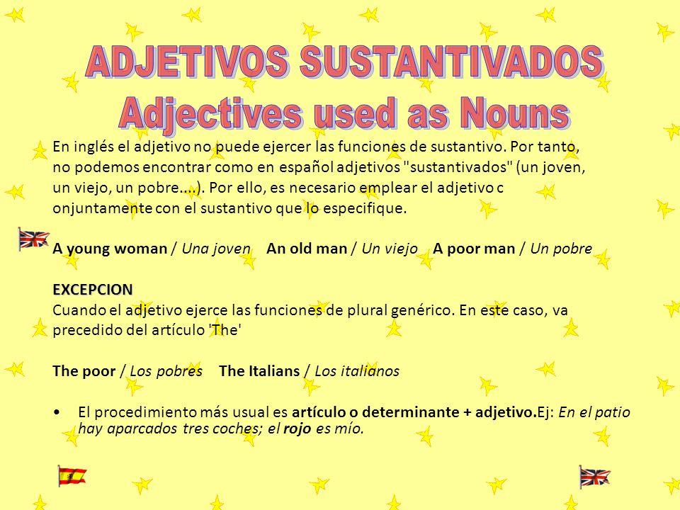 ADJETIVOS SUSTANTIVADOS Adjectives used as Nouns
