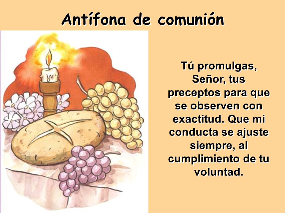 Antífona de comunión