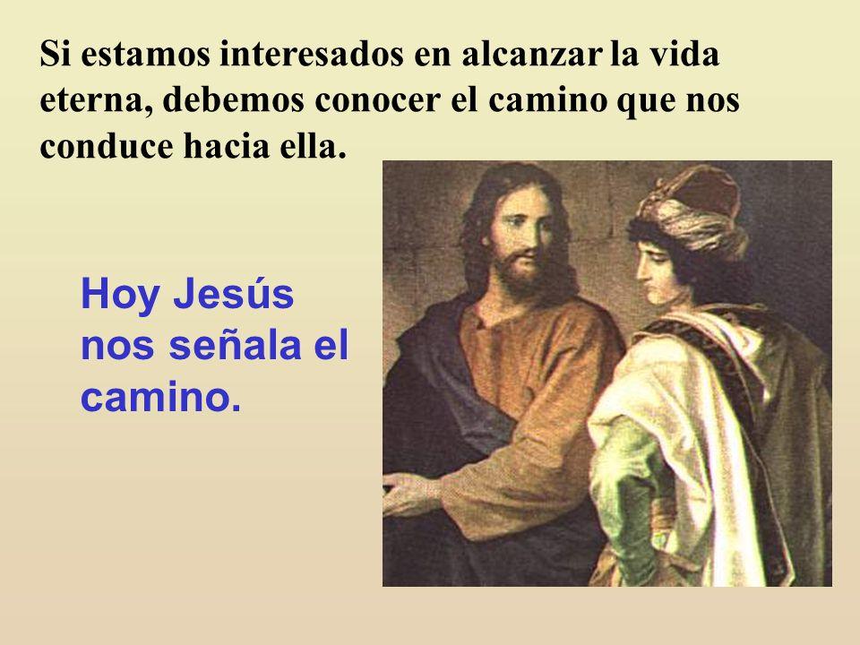 Hoy Jesús nos señala el camino.