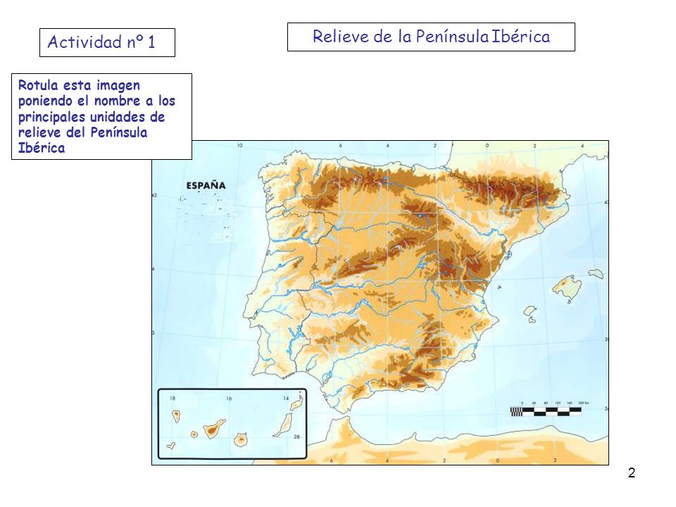 Relieve de la Península Ibérica