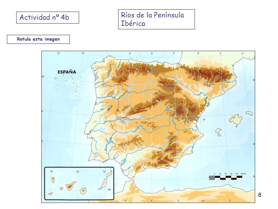 Ríos de la Península Ibérica Actividad nº 4b
