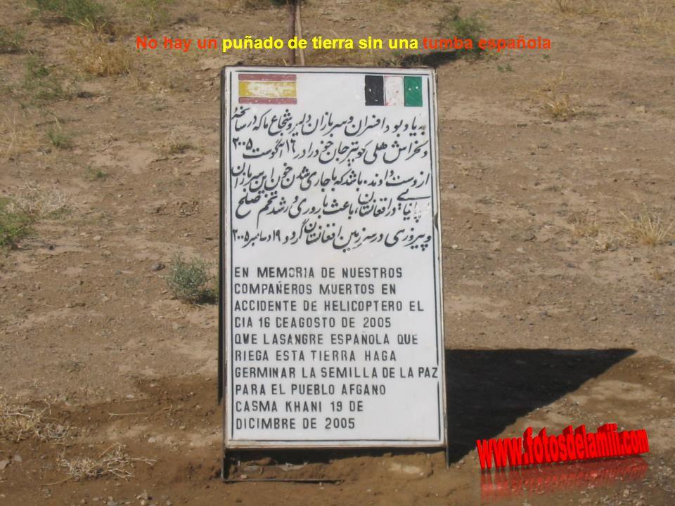 No hay un puñado de tierra sin una tumba española