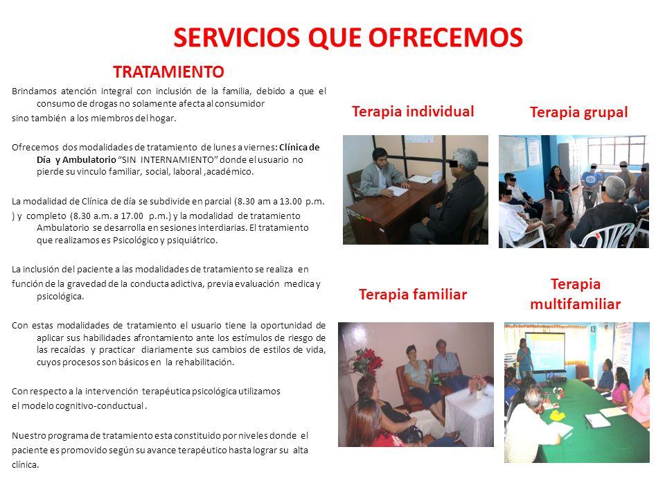 SERVICIOS QUE OFRECEMOS Terapia multifamiliar