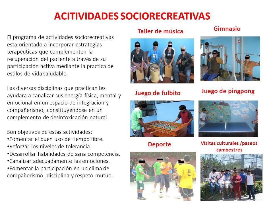 ACITIVIDADES SOCIORECREATIVAS