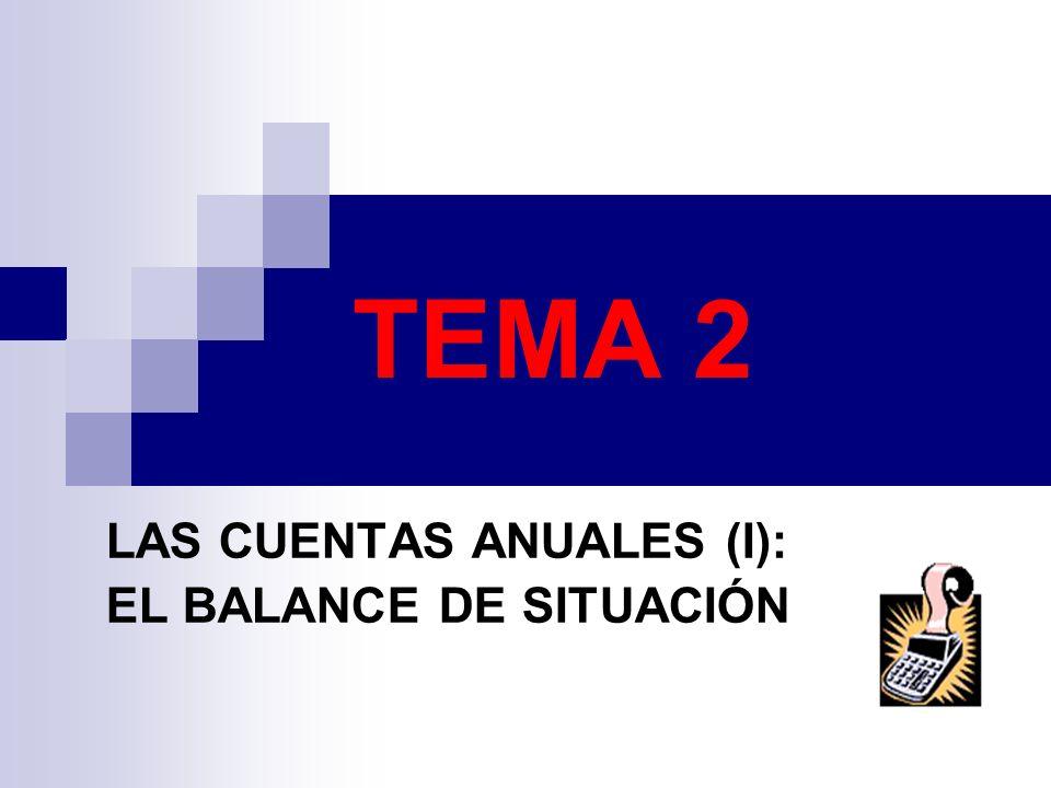 LAS CUENTAS ANUALES (I): EL BALANCE DE SITUACIÓN