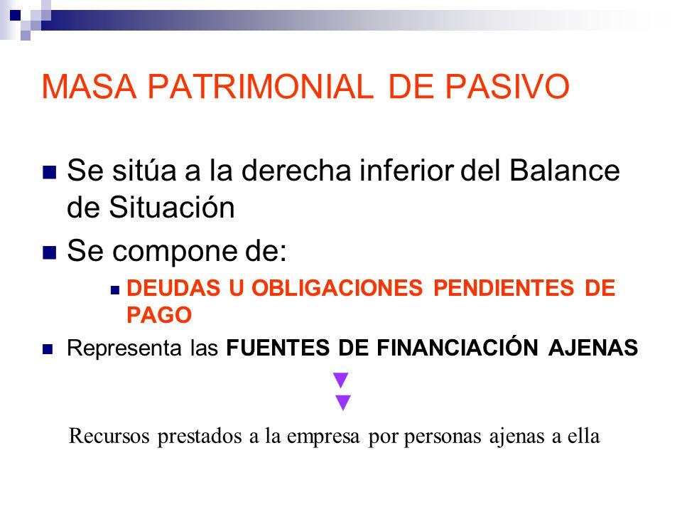 MASA PATRIMONIAL DE PASIVO