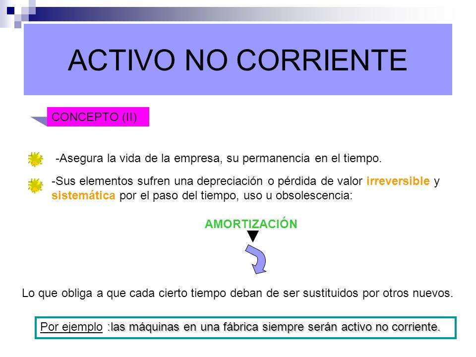 ACTIVO NO CORRIENTE CONCEPTO (II)