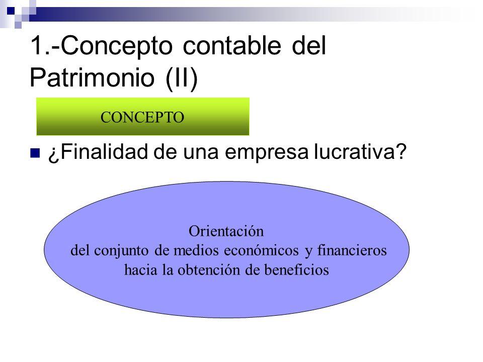 1.-Concepto contable del Patrimonio (II)