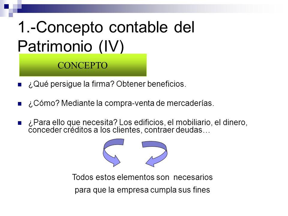 1.-Concepto contable del Patrimonio (IV)
