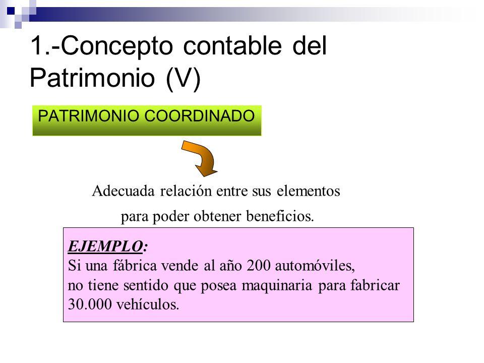 1.-Concepto contable del Patrimonio (V)