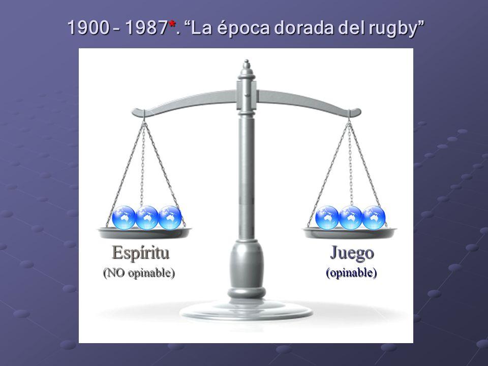 1900 – 1987*. La época dorada del rugby