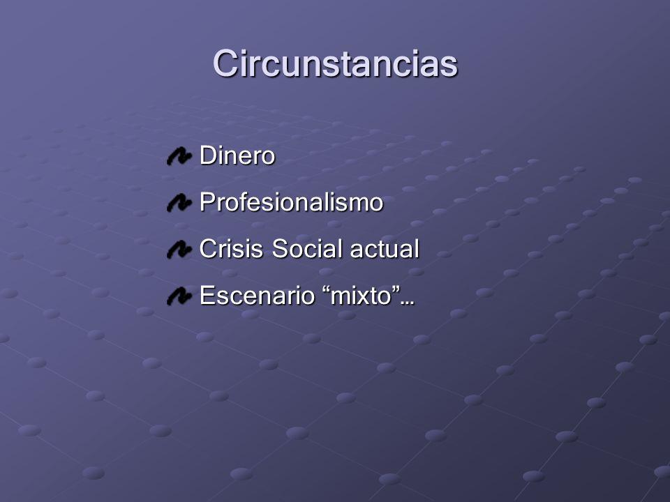 Circunstancias Dinero Profesionalismo Crisis Social actual
