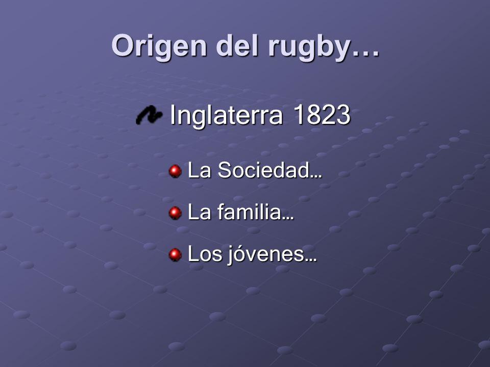 Origen del rugby… Inglaterra 1823 La Sociedad… La familia…