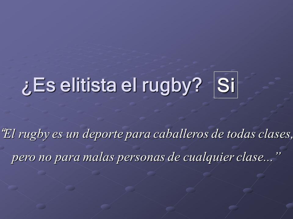 ¿Es elitista el rugby Si