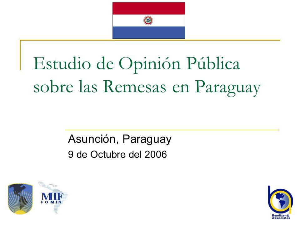 Estudio de Opinión Pública sobre las Remesas en Paraguay
