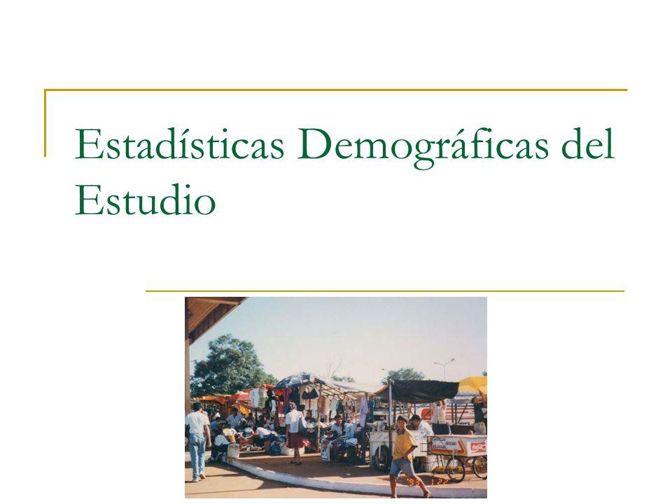 Estadísticas Demográficas del Estudio