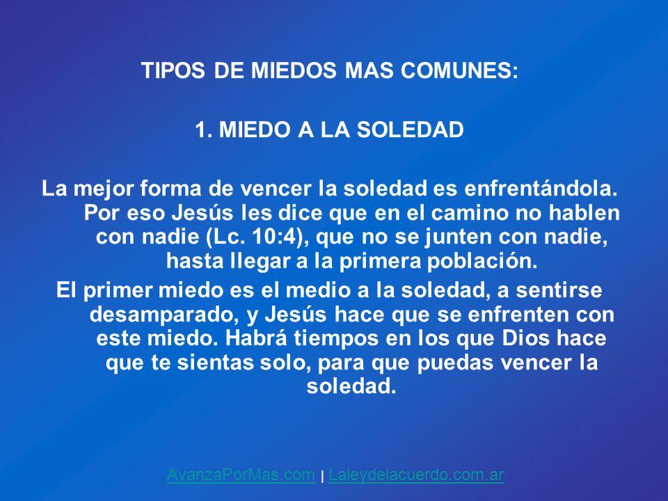 TIPOS DE MIEDOS MAS COMUNES: