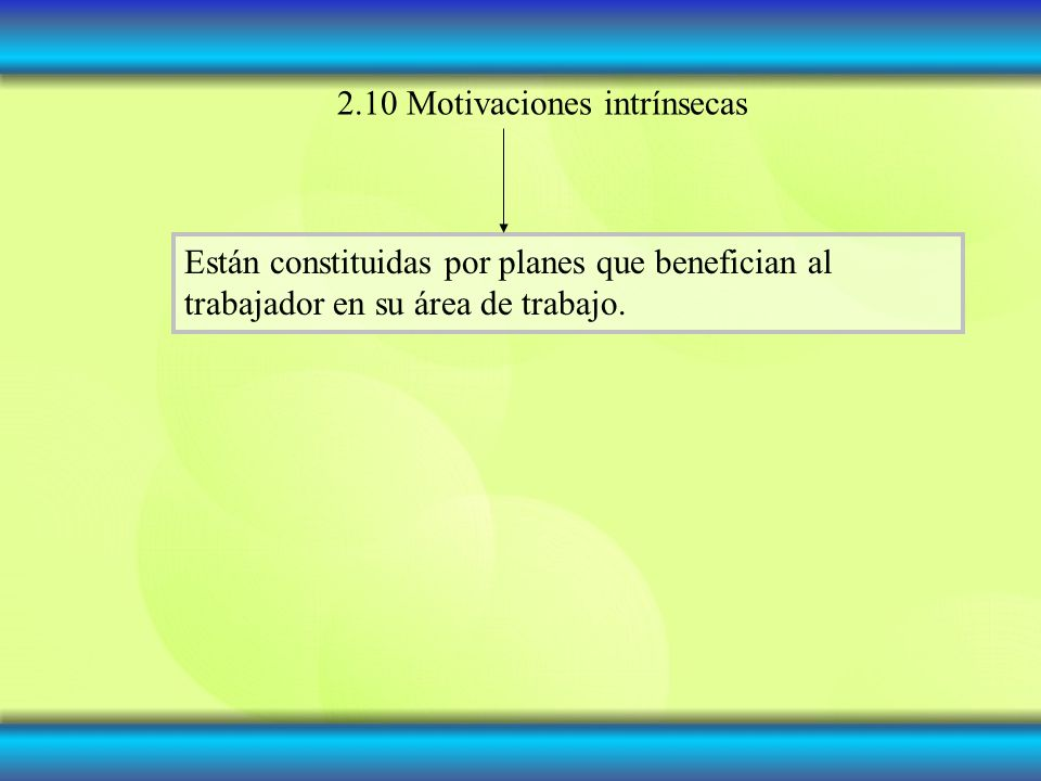 2.10 Motivaciones intrínsecas