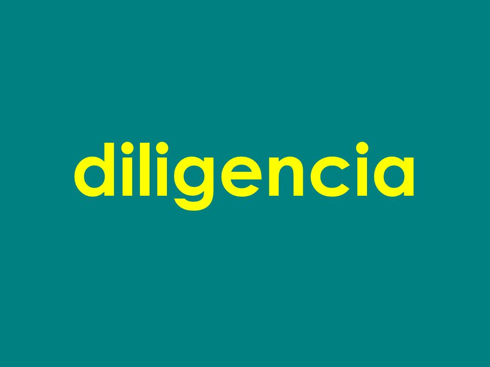diligencia