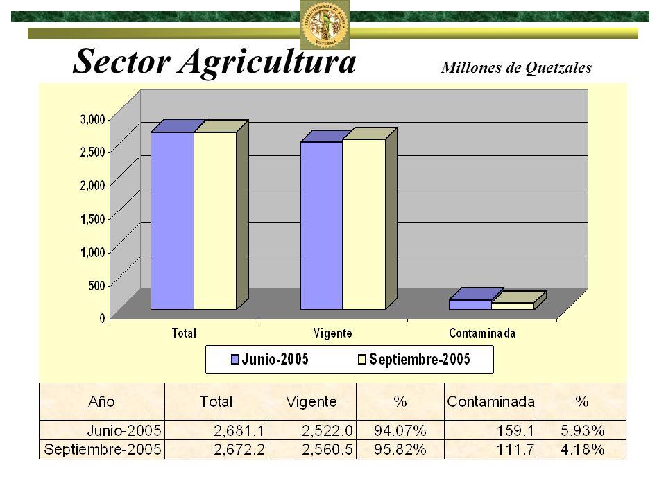 Sector Agricultura Millones de Quetzales