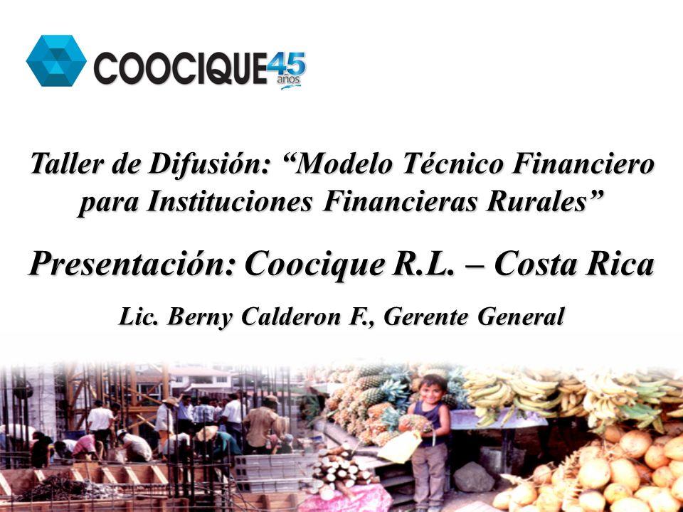 Presentación: Coocique R.L. – Costa Rica