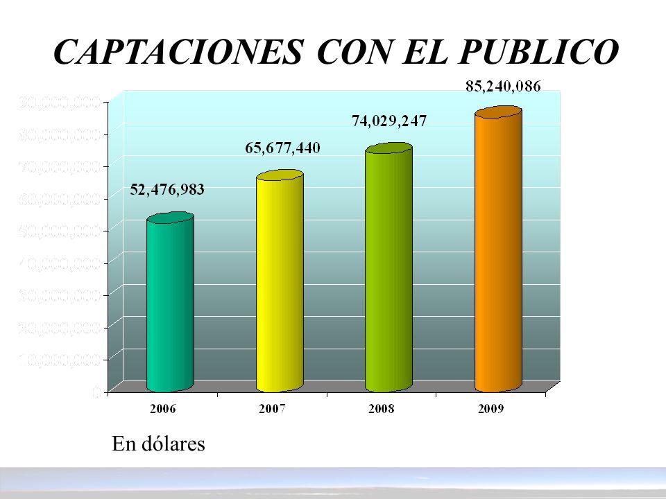 CAPTACIONES CON EL PUBLICO