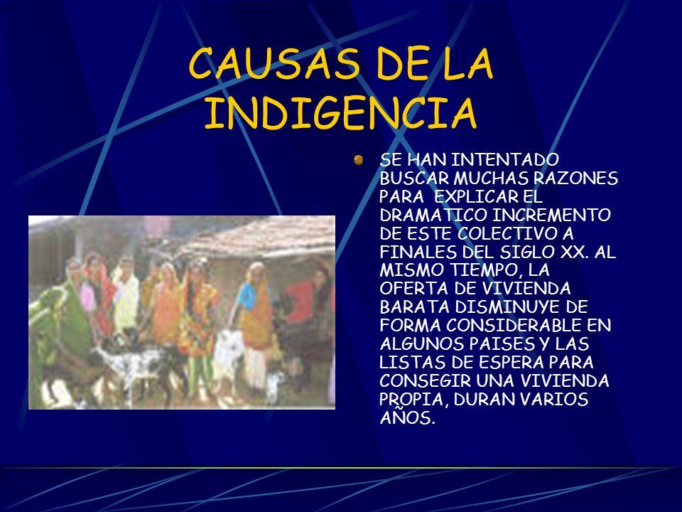 CAUSAS DE LA INDIGENCIA