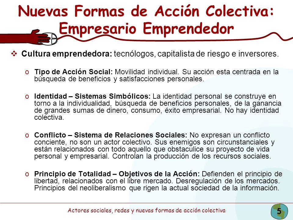 Nuevas Formas de Acción Colectiva: Empresario Emprendedor