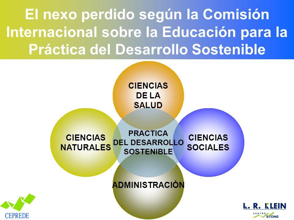 El nexo perdido según la Comisión Internacional sobre la Educación para la Práctica del Desarrollo Sostenible