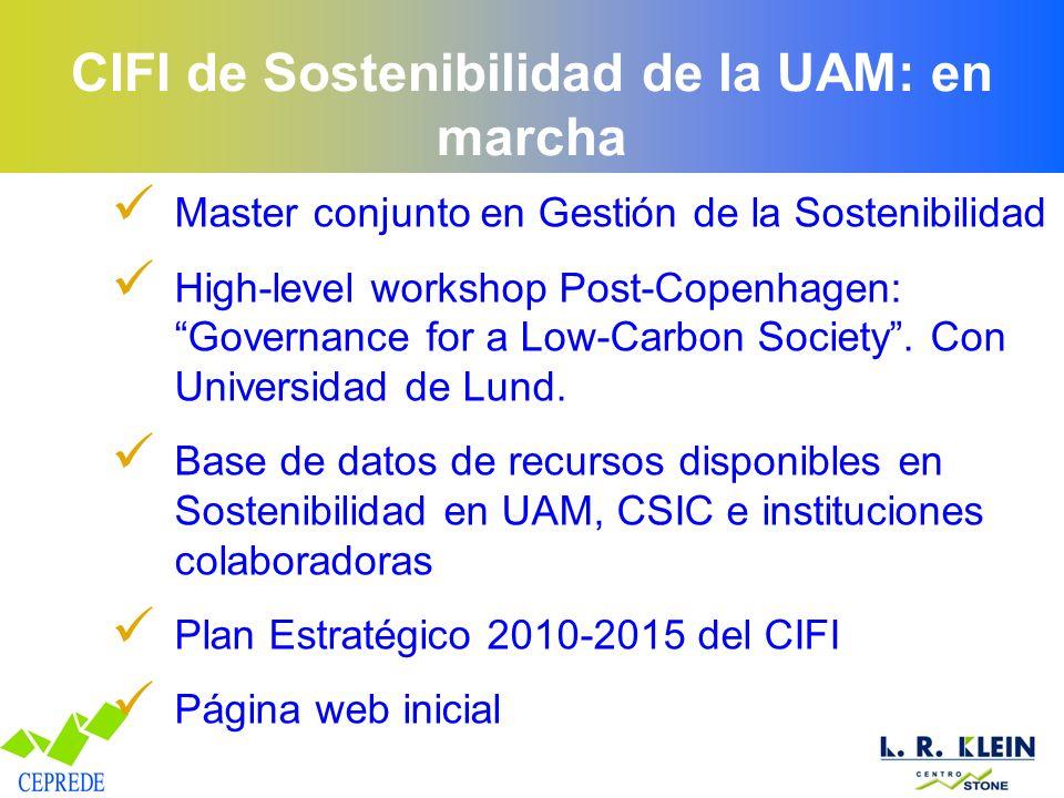 CIFI de Sostenibilidad de la UAM: en marcha