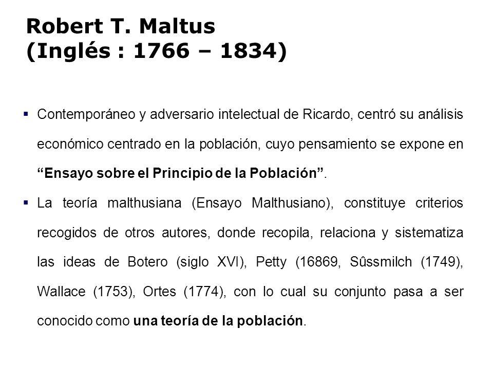 Robert T. Maltus (Inglés : 1766 – 1834)