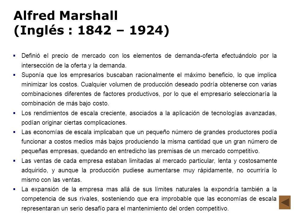 Alfred Marshall (Inglés : 1842 – 1924)