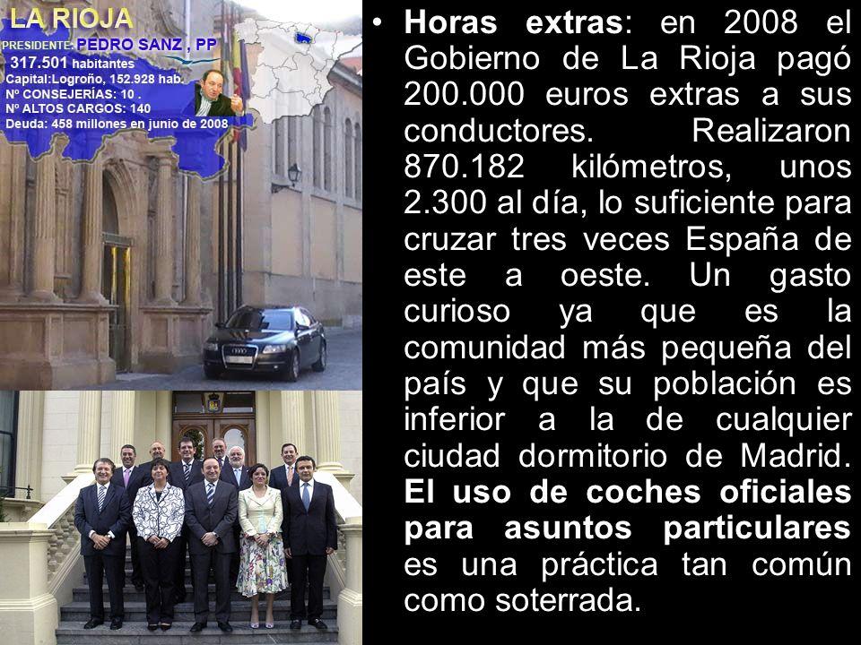 Horas extras: en 2008 el Gobierno de La Rioja pagó 200