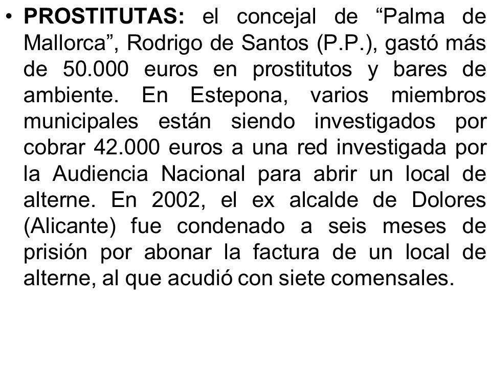 PROSTITUTAS: el concejal de Palma de Mallorca , Rodrigo de Santos (P