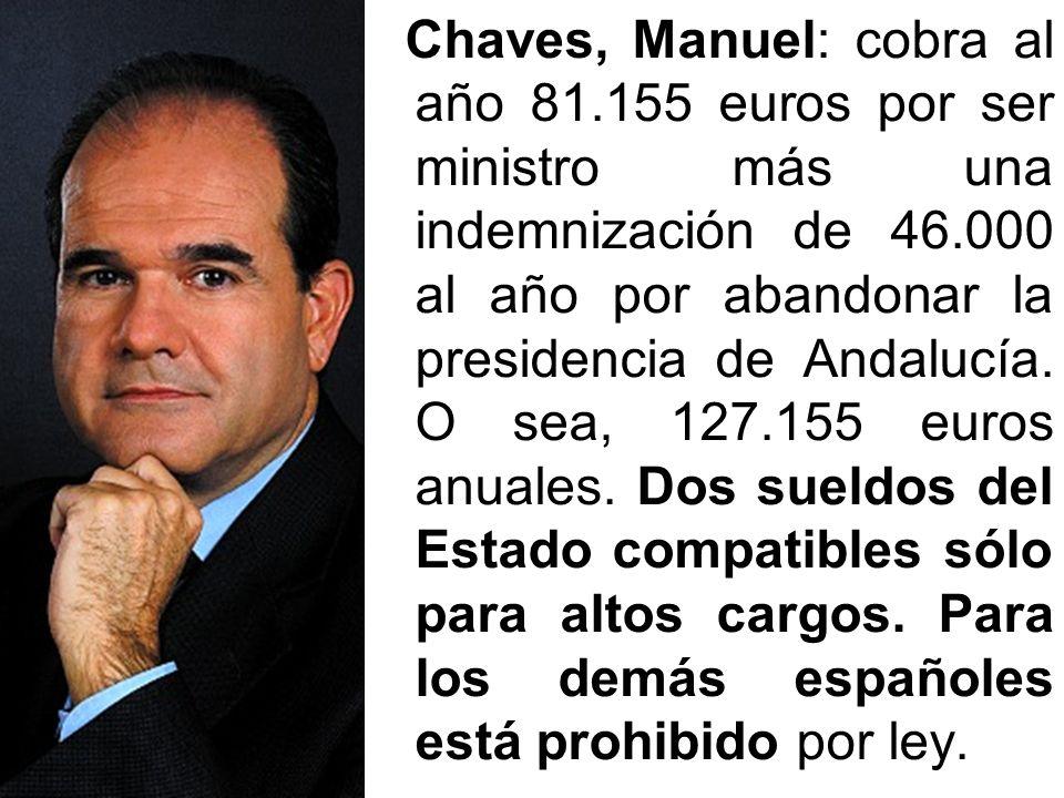 Chaves, Manuel: cobra al año 81