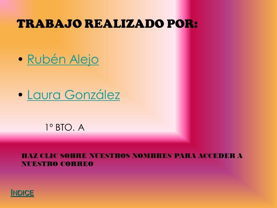 TRABAJO REALIZADO POR: Rubén Alejo Laura González