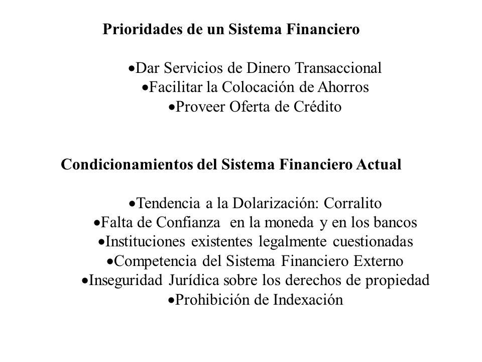 Prioridades de un Sistema Financiero