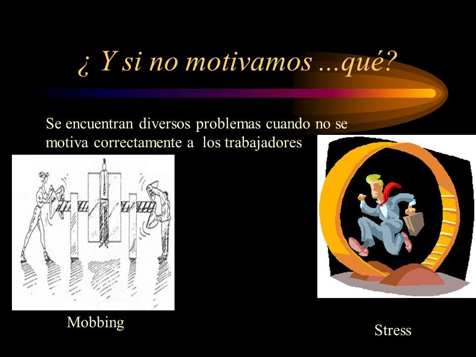 ¿ Y si no motivamos ...qué Se encuentran diversos problemas cuando no se motiva correctamente a los trabajadores.