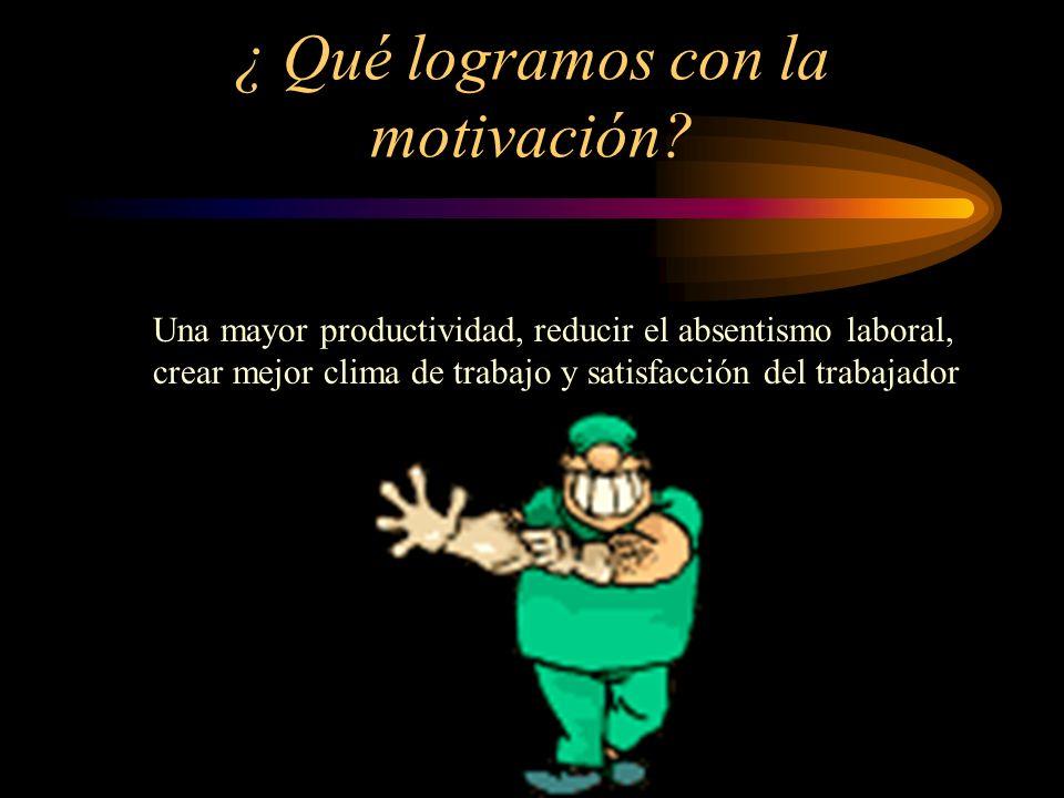 ¿ Qué logramos con la motivación