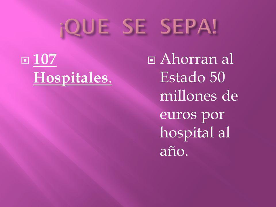 ¡QUE SE SEPA! 107 Hospitales.
