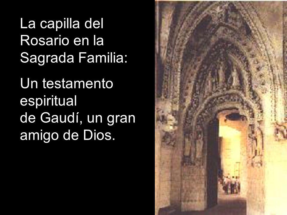 La capilla del Rosario en la Sagrada Familia: