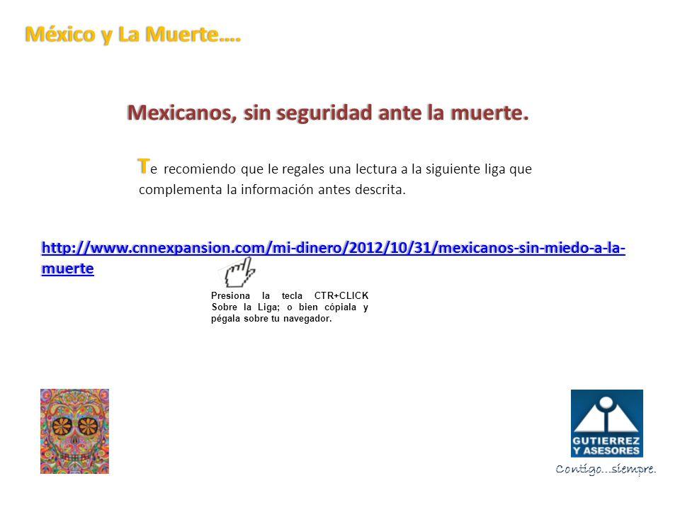 Mexicanos, sin seguridad ante la muerte.