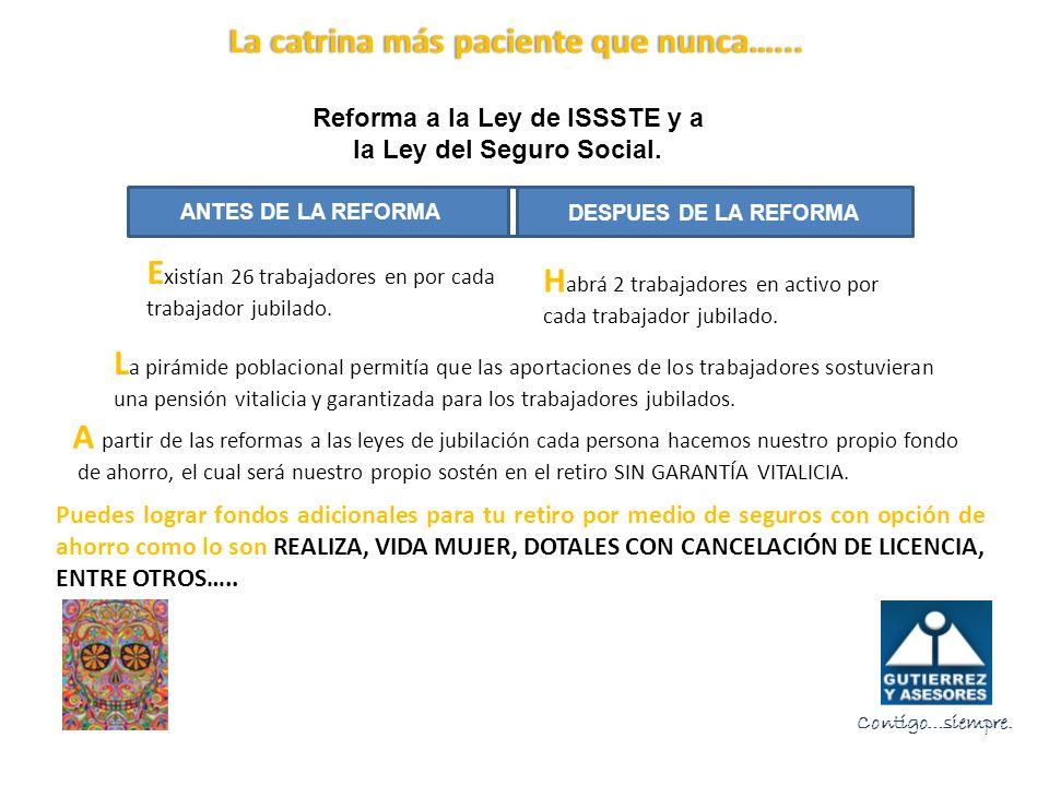 Reforma a la Ley de ISSSTE y a la Ley del Seguro Social.