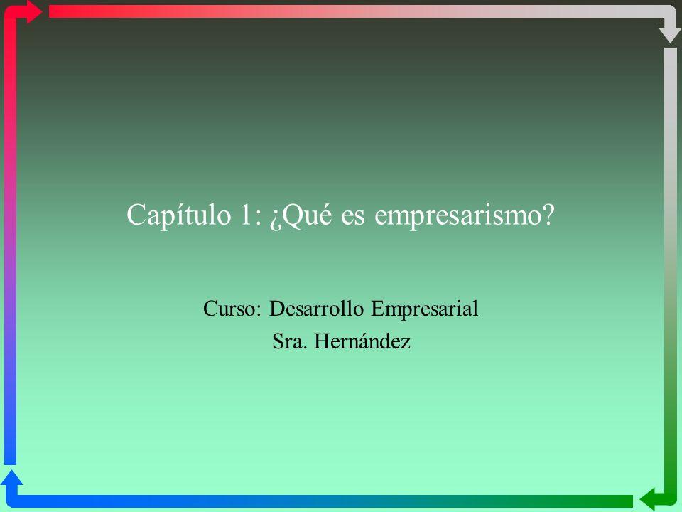 Capítulo 1: ¿Qué es empresarismo